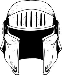 Knights Helmet Mascot Decal / Sticker