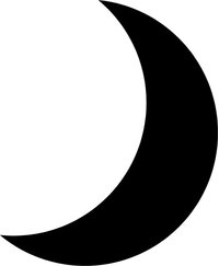Moon or Eclipse Decal / Sticker 02