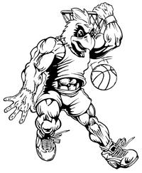 Basketball Cardinals Mascot Decal / Sticker 4