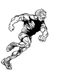 Track Devils Mascot Decal / Sticker 2