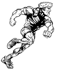 Track and Field Frontiersman Mascot Decal / Sticker 1