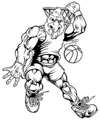 Basketball Gamecocks Mascot Decal / Sticker 4