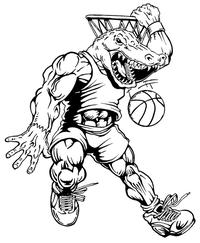 Basketball Gators Mascot Decal / Sticker 4