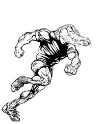 Track and Field Gators Mascot Decal / Sticker 2