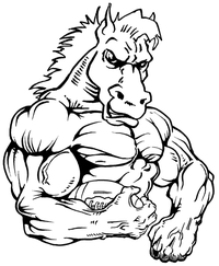Football Horse Mascot Decal / Sticker 4
