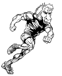 Track and Field Horse Mascot Decal / Sticker 2