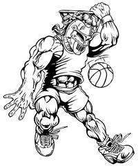 Basketball Knights Mascot Decal / Sticker 4