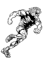Track and Field Leopards Mascot Decal / Sticker 2