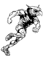 Track and Field Owls Mascot Decal / Sticker 2