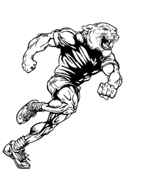 Track and Field Cougars / Panthers Mascot Decal / Sticker 2