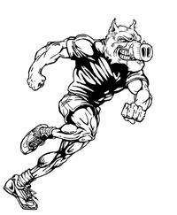 Track and Field Razorbacks Mascots Decal / Sticker 2