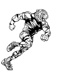 Track and Field Tigers Mascot Decal / Sticker 2