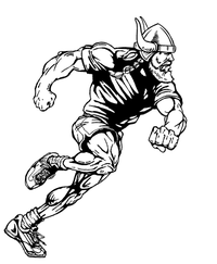 Track and Field Vikings Mascot Decal / Sticker 2