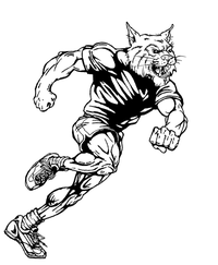Track and Field Wildcats Mascot Decal / Sticker 2