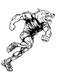 Track and Field Wolves Mascot Decal / Sticker 2