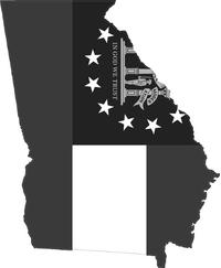 Georgia Outline State Flag Decal / Sticker 08