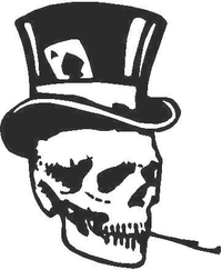 Skull Ace Hat Decal / Sticker