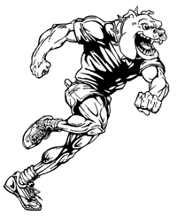 Track Bulldog Mascot Decal / Sticker 1