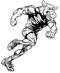 Track Bull Mascot Decal / Sticker 3