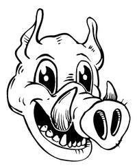 Razorbacks Mascots Decal / Sticker 1