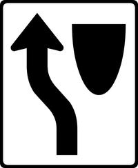Keep Left Decal / Sticker 02