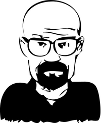Breaking Bad Heisenberg (Walter White) Decal / Sticker 30