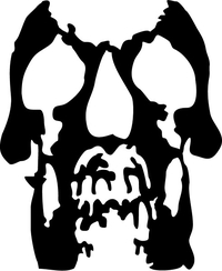 Deftones Skull Decal / Sticker 07