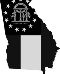 Georgia Outline State Flag Decal / Sticker 11