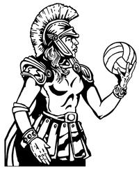 Trojans Volleyball Mascot Decal / Sticker