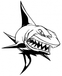 CUSTOM SHARKS MASCOT DECALS AND SHARKS MASCOT STICKERS