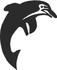 Dolphin Decal / Sticker 03