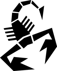 Fiat Abarth Scorpion Decal / Sticker 25