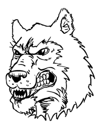 Wolves Mascot Decal / Sticker 6