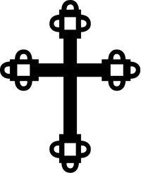 Christian Cross Decal / Sticker 93