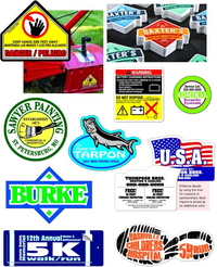 Custom Shape Decal / Sticker Quote (White or Yellow Material with Spot Colors)