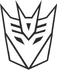 Decepticon Decal / Sticker 12