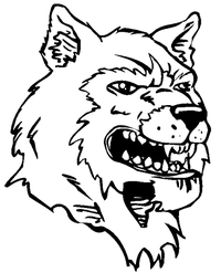 Huskies Mascot Decal / Sticker 6