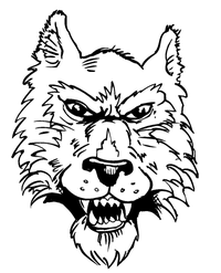 Wolves Mascot Decal / Sticker 4