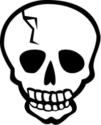 Skull Decal / Sticker 22