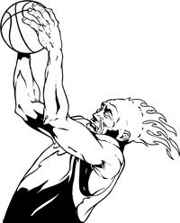 Basketball Heat Mascot Decal / Sticker