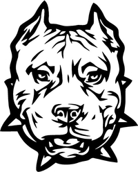 Pitbull Decal / Sticker 09