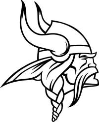 Viking Mascot Decal / Sticker 01