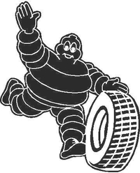 Michelin Man with Tire Decal / Sticker
