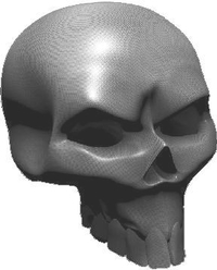 3D Carbon Fiber Skull 02 Decal / Sticker