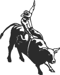 Bull rider Decal / Sticker 02