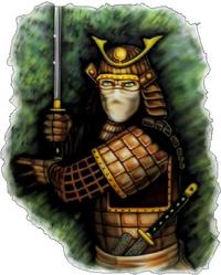 Samurai Decal / Sticker 01