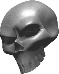 3D Carbon Fiber Skull 01 Decal / Sticker