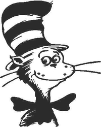 Cat In The Hat Decal / Sticker 02