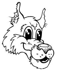 Wolves Mascot Decal / Sticker 1