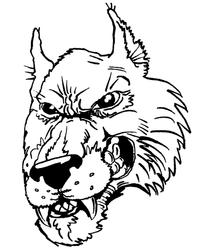 Wolves Mascot Decal / Sticker 7